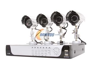 LTS 4 Camera+4 Channel 320GB DVR with Web/Mobile Phone/iPhone Access (LTD24HTSK)