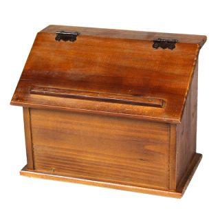 Old Style Wooden Podium Recipe Box   17284531   Shopping