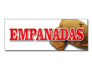 "24"" EMPANADAS DECAL sticker latin restaurant food meat chicken hot pocket"