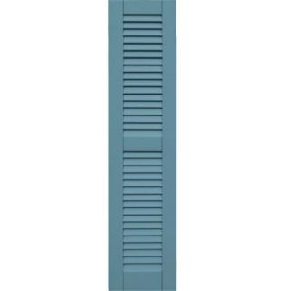 Winworks Wood Composite 12 in. x 52 in. Louvered Shutters Pair #645 Harbor 41252645   Mobile