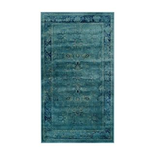 Safavieh Vintage Turquoise and Multicolor Rectangular Indoor Woven Throw Rug (Common: 2 x 4; Actual: 31 in W x 48 in L x 0.33 ft Dia)