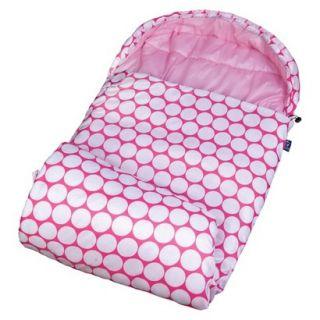 Wildkin Big Dot Stay Warm Sleeping Bag   Pink\White