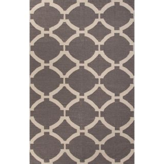 Handmade Geometric Pattern Gray/ Ivory Wool Area Rug (8 x 10