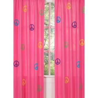 Groovy Peace Sign 84 inch Curtain Panel Pair   Shopping