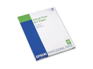 EPSON FINE ART PAPER, 20 SHTS 8.5 X 11 VELVET S041636 by EPSON