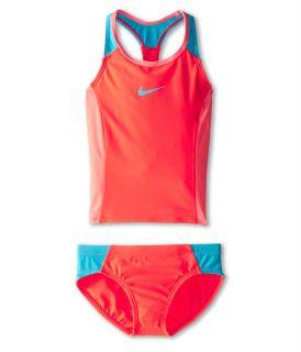 Nike Kids Color Fuse Racerback Tankini Big Kids Bright Crimson, Nike