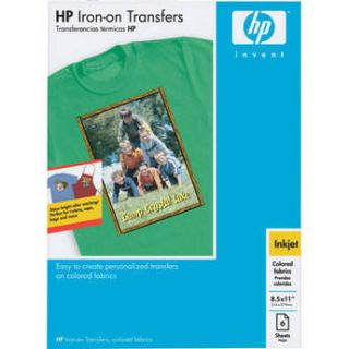 HP Iron on Transfer Paper for Color Fabrics   Q1974A