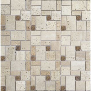 Instant Mosaic Random Sized Natural Stone Peel & Stick Mosaic Tile in