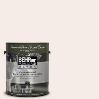 BEHR Premium Plus Ultra 1 gal. #PWN 68 Angelic White Semi Gloss Enamel Interior Paint 375001