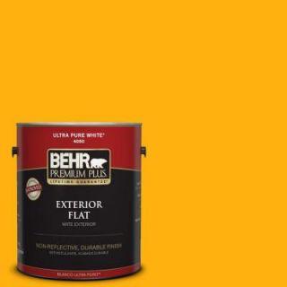 BEHR Premium Plus 1 gal. #S G 340 Sun Ray Flat Exterior Paint 430001