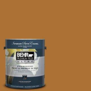 BEHR Premium Plus Ultra 1 gal. #S H 320 Enchanting Ginger Satin Enamel Interior Paint 775301