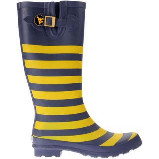 West Virginia Mountaineers Lillybee U Womens Rain Boots with Logo Snap
