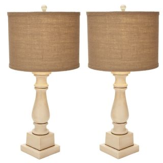 Arianna Antiqued Cream Candlestick Table Lamp   Set of 2   17634722
