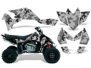 2006 2009|Suzuki|LTR|450::AMRRACING ATV Graphics Decal Kit:Camo Plate Silver