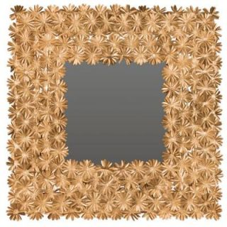Safavieh Crown Daisy 25 in. H x 25 in. W Square Framed Mirror MIR4055A