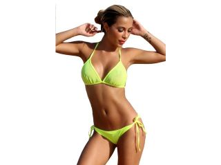 UjENA Neon Lemon Lime Topless Bikini   Top Only LL