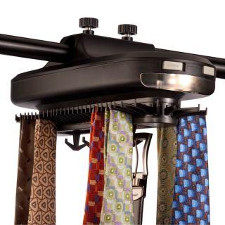 Richards Homewares Revolving Motorized Lighted Tie and Belt Rack Hooks