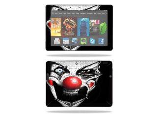 "Mightyskins Protective Skin Decal Cover for  Kindle Fire HDX 8.9"" Tablet (2013 & 2014 models) wrap sticker skins Evil Clown"