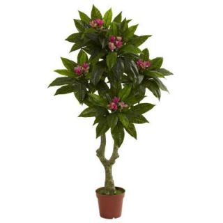Nearly Natural 5 ft. UV Resistant Indoor/Outdoor Plumeria Tree 5394