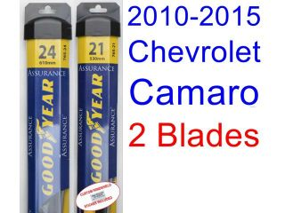 2010 2015 Chevrolet Camaro Replacement Wiper Blade Set/Kit (Set of 2 Blades) (Goodyear Wiper Blades Assurance) (2011,2012,2013,2014)
