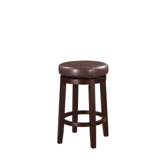 Oh! Home Dorothy Backless Counter Stool Brown Swivel Seat   17123187