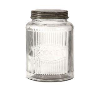 Dyer Glass Cookie Jar w/ Lid