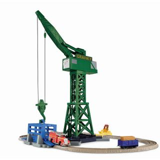 Fisher Price Thomas & Friends TrackMaster Motorized Railway Playset   Cranky and Flynn Save the Day    Fisher Price