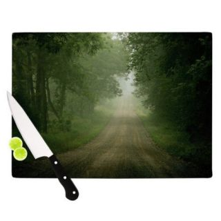 KESS InHouse Foggy Road by Angie Turner Forest Cutting Board