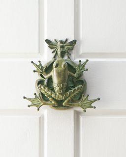 MacKenzie Childs Frog & Bee Door Knocker