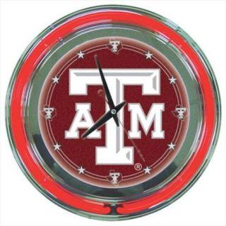 Trademak Global AD LRG1400 TAMU Texas A M Aggies 14 inch Neon Wall Clock