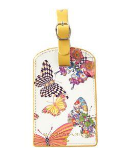 MacKenzie Childs Butterfly Garden Luggage Tag