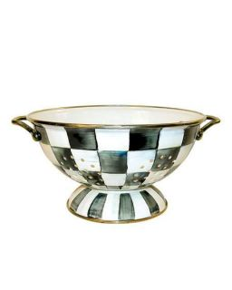 MacKenzie Childs Courtly Check Large Colander