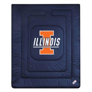 Illinois Fighting Illini Twin Size Locker Room Comforter