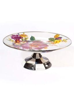 MacKenzie Childs Small Flower Market Pedestal Platter