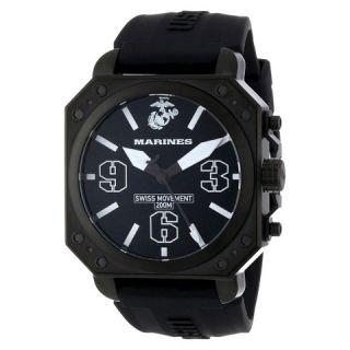 Mens Wrist Armor U.S. Marine Corps C4 Swiss Quartz Watch   Black