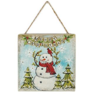 Merry Christmas LED Snowman Picture Frame