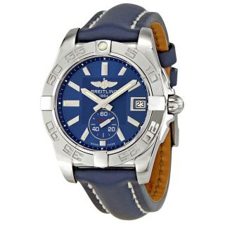 Breitling Windrider Galactic 36 Blue Dial Automatic Mens Watch