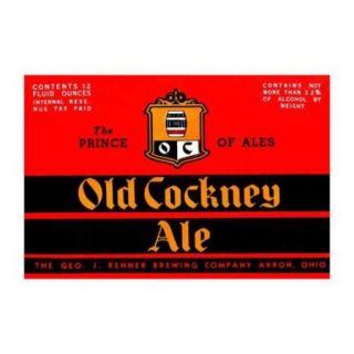Old Cockney Ale Print (Unframed Paper Print 20x30)
