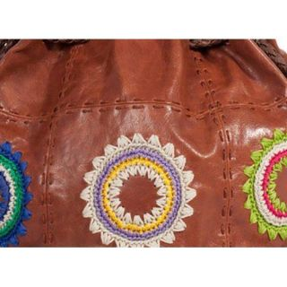 Womens THE SAK Indio Leather Drawstring Starburst