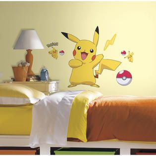 RoomMates Pokemon Pikachu Peel and Stick Wall Decals   Home   Home