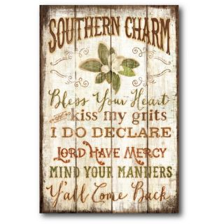 Farmhouse Canvas Southern Charm Textual Art on Wrapped Canvas by