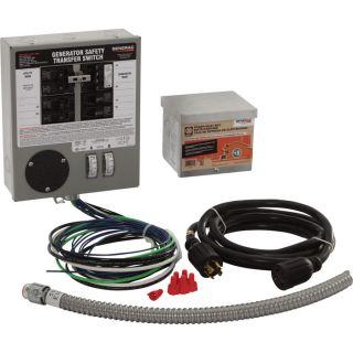 Generac Generator Transfer Switch Kit — 30 Amps, Single Phase, 6 Circuits, Model# 6408  Generator Transfer Switches