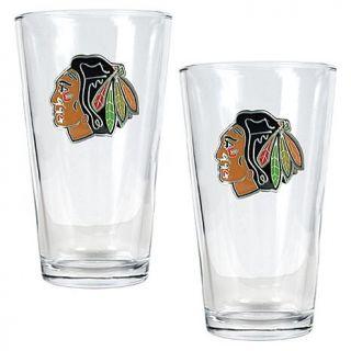 Chicago Blackhawks 2pc Pint Ale Glass Set   7570200