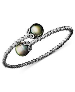 Pearl Bracelet, Sterling Silver Cultured Tahitian Pearl (9mm) and