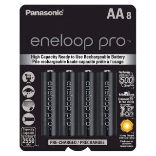 Panasonic eneloop pro AA High Capacity, Ni MH Pre Charged Rechargeable