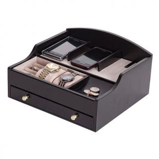 Mele & Co. Ricardo Wooden Charging Station in Java Finish   7117833
