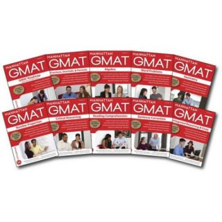 Manhattan GMAT Strategy Guides: Gmat Roadmap, Fractions, Decimals, & Percents, Algebra, Word Problems, Geometry, Number Properties, Critical Reasoning, Reading Comprehension, Sentenc