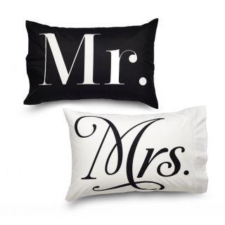 Amadora Design Concepts Queen Mr and Mrs Ultra Microfiber Pillowcase