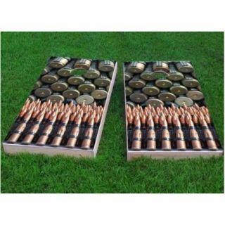 Custom Cornhole Boards Bullet and Ammunition Themed Cornhole Game (Set of 2)