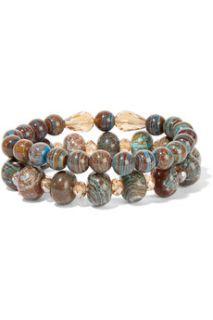 Set of two jasper silver plated bracelets  Chan Luu